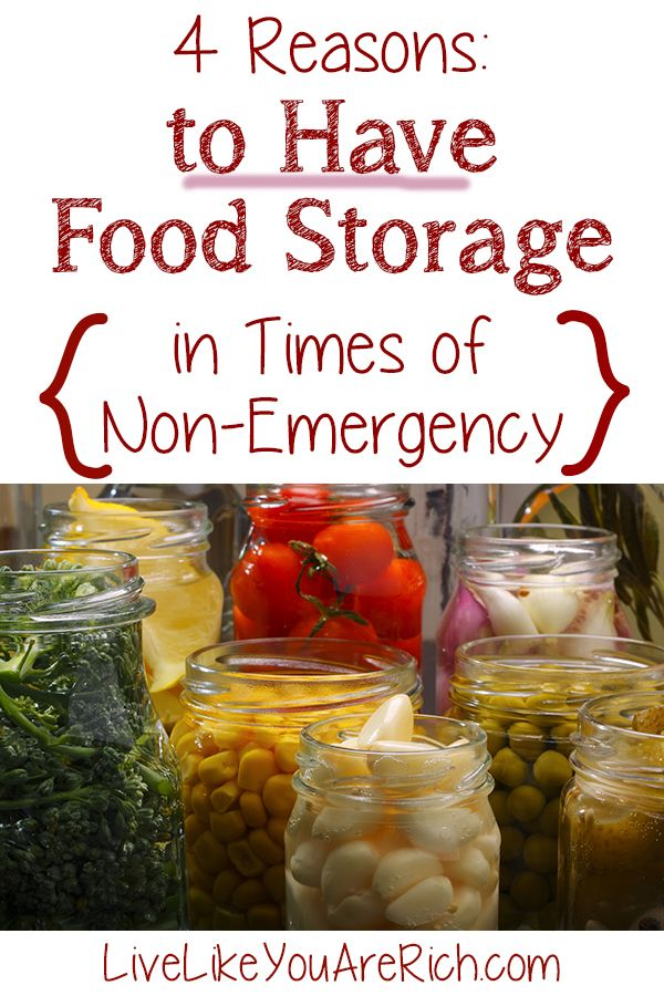 Ever wondered what the point of a food storage is even in times of non-emergency? Here are four compelling reasons to have a food storage all the time. #LiveLikeYouAreRich