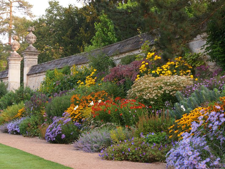The Herbaceous Border in late summer