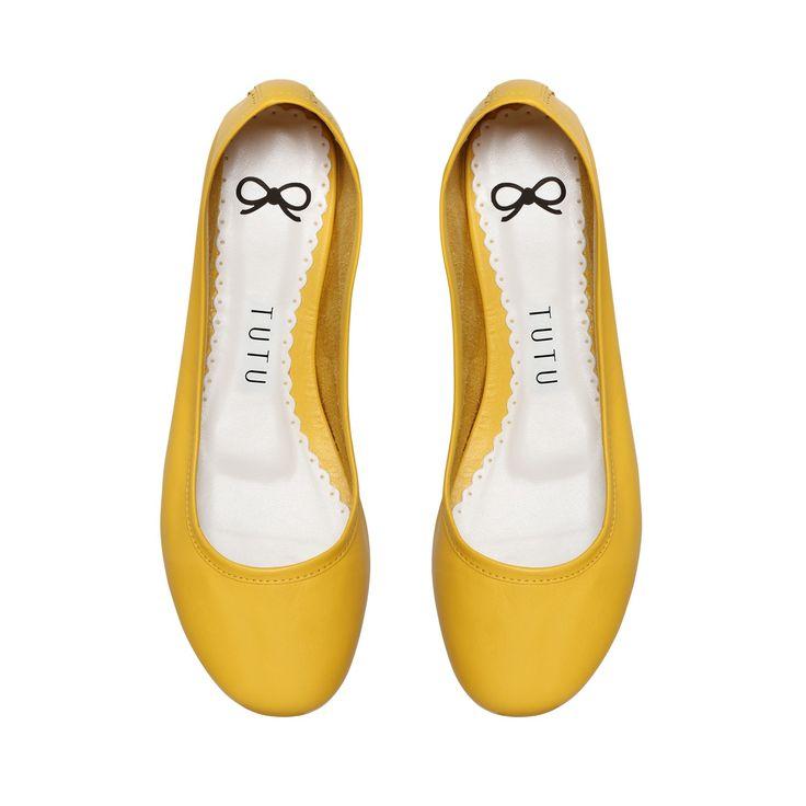 Sapatilha amarela, sapatilha confortável, sapatilha tutu, sapatilha básica couro