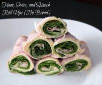 Ham, Swiss, and Spinach Roll Ups {No Bread} - Organize Yourself Skinny
