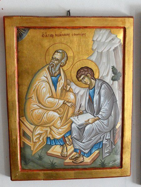 St John the Evangelist and St Prochorus by Antonis Theodorakis-