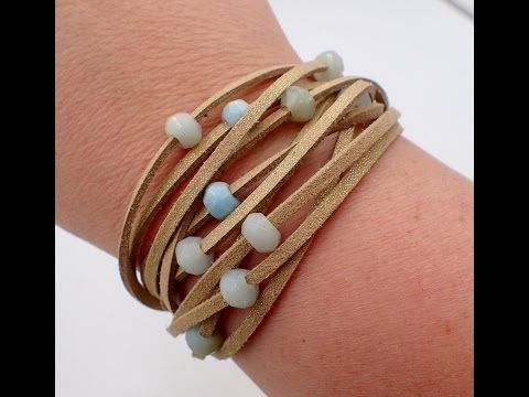 Must Know Monday 4/10/17 Multi Strand Suede Bracelet - YouTube