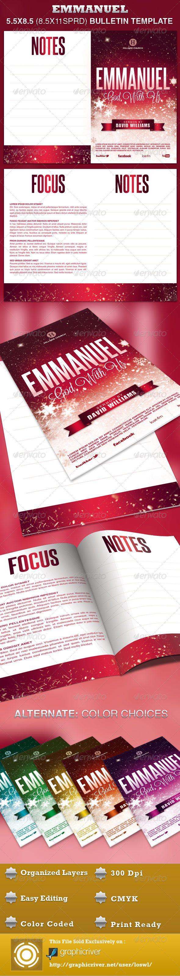 42 best Church Bulletin Templates images on Pinterest | Brochure ...