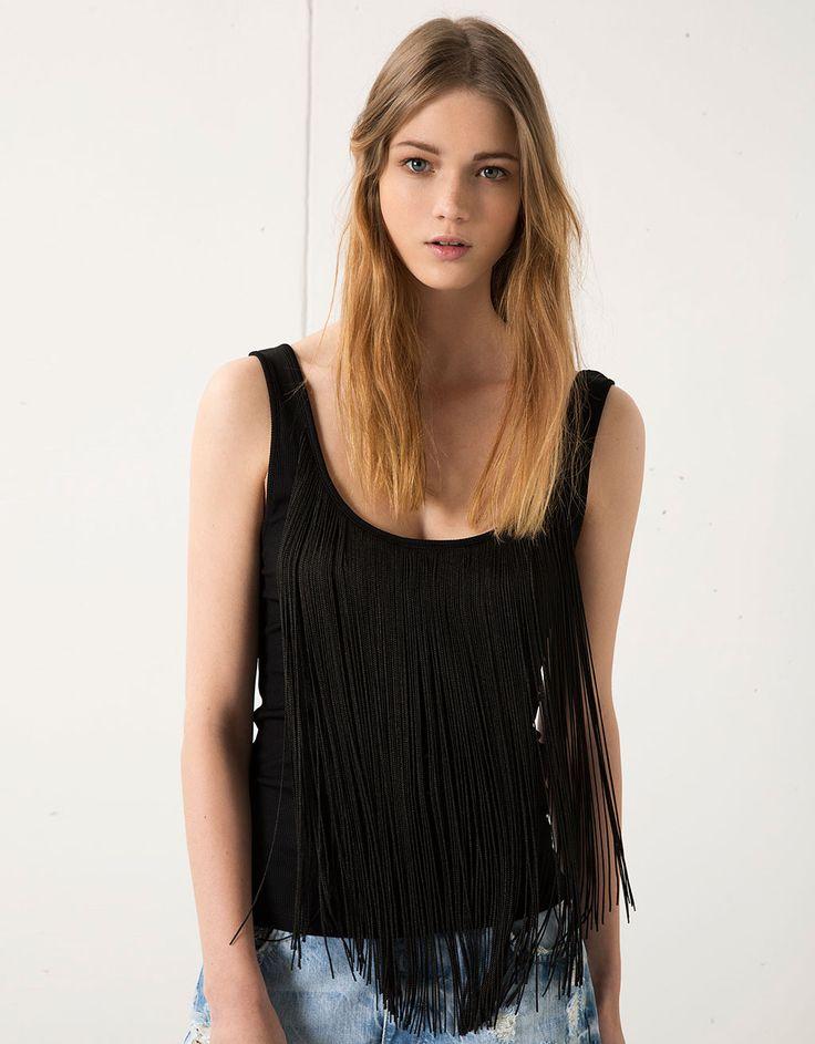 Shirt Bershka met franjes - Tops & bodies - Bershka Netherlands
