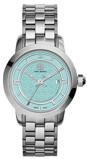 pretty silver and mint watch