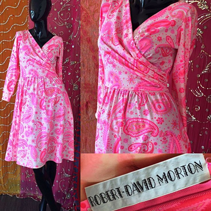 Vintage 70s Psychedelic Robert David Morton Dress Mod Paisley Hippie Festival  | eBay