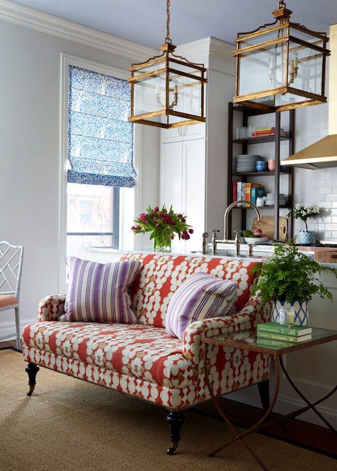 Жизнерадостный дизайн интерьера квартиры в Чикаго. | Colors.life