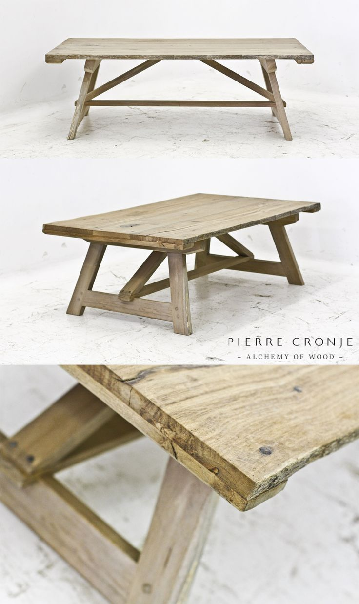A Pierre Cronje Karoo Coffee Table in French Oak - 1400x800x450mm (LxWxH)