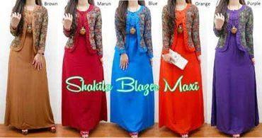 fg19141 Shakila blazer Maxi, ld 90 pjg 140 , katun, bolero katun, @150rbu