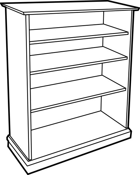 empty cupboard clipart black and white - Google Search ...