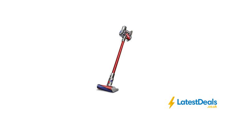 DYSON V6 Total Clean Cordless Stick Vacuum Cleaner Nickel & Red (currys), £259.99 at ebay