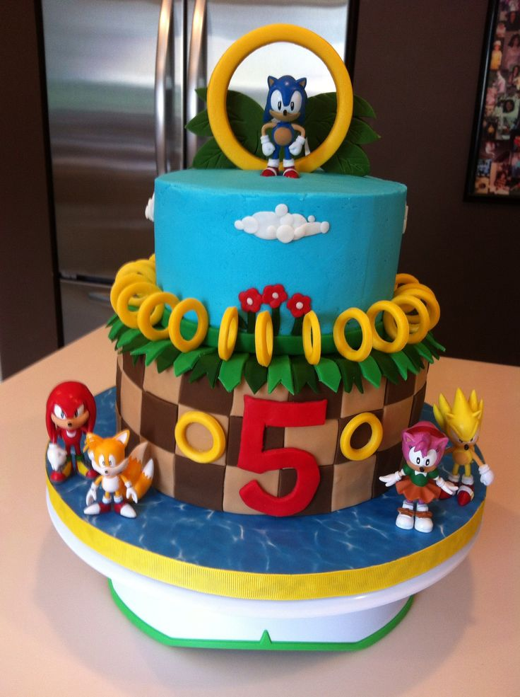 Happy Birthday Cake Joshua Images ~ Josh wants a sonic the hedgehog cake suzanne grimes party ideas pinterest coins