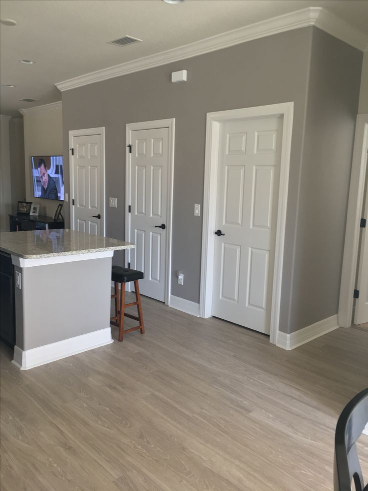 sherwin williams functional grey kitchen gray greypaint on designers most used wall color id=28198