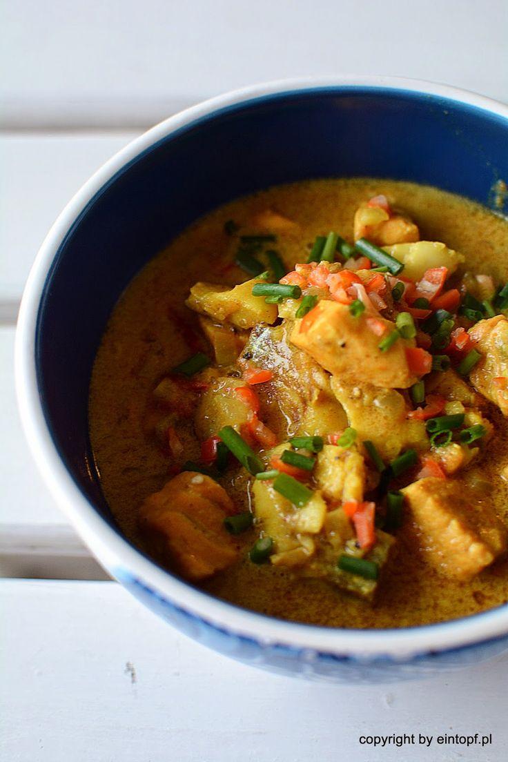 ryba w mleku kokosowym z curry