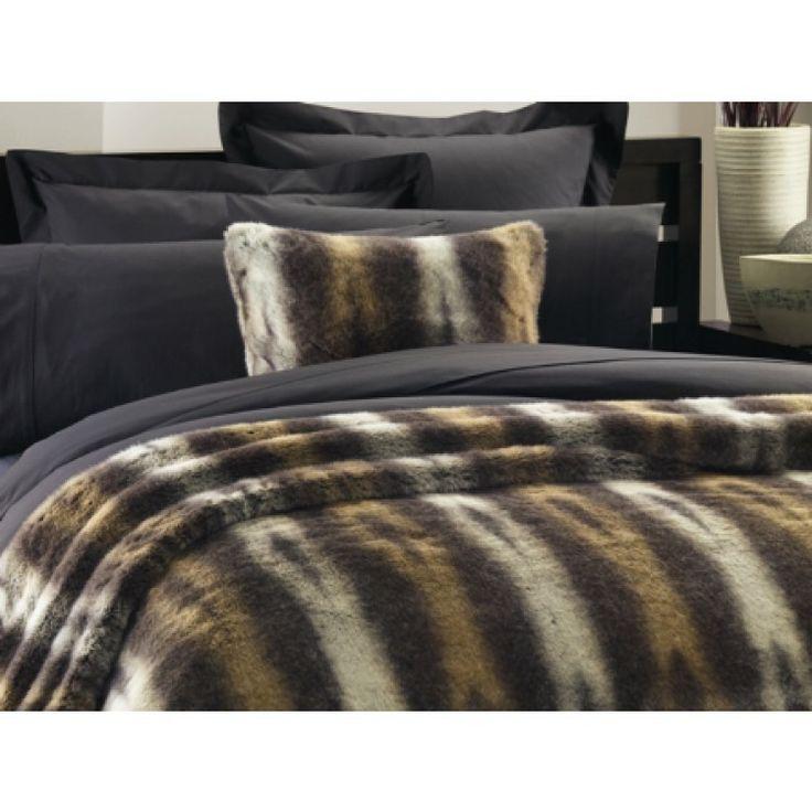 Lux Alaska Bear Faux Fur Coverlet