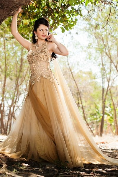 Beige Party Dress Collection for Women