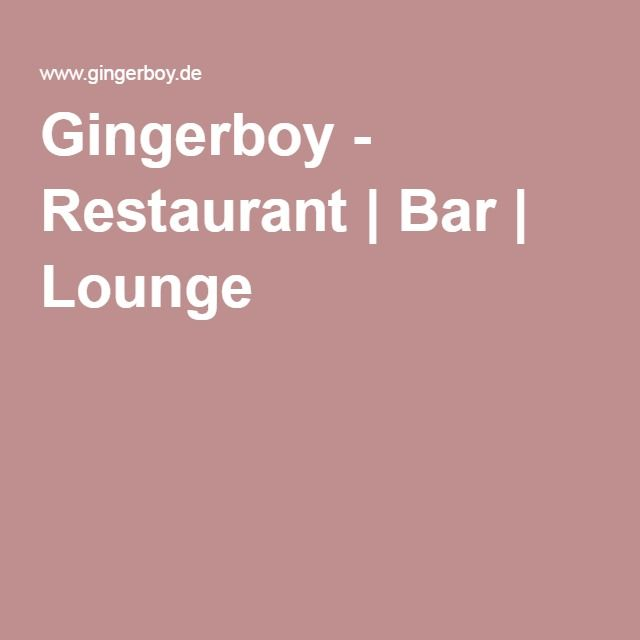 Gingerboy - Restaurant | Bar | Lounge