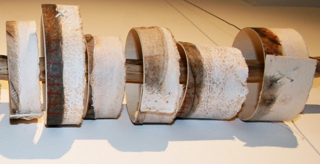 Megan Jacobs  Earth Bangles - paper, painting offcuts