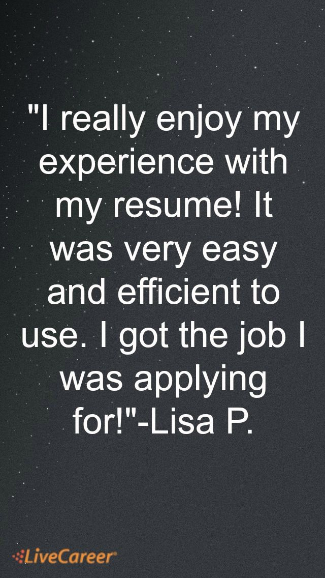 182 best LiveCareer Reviews images on Pinterest Resume builder - livecareer my perfect resume