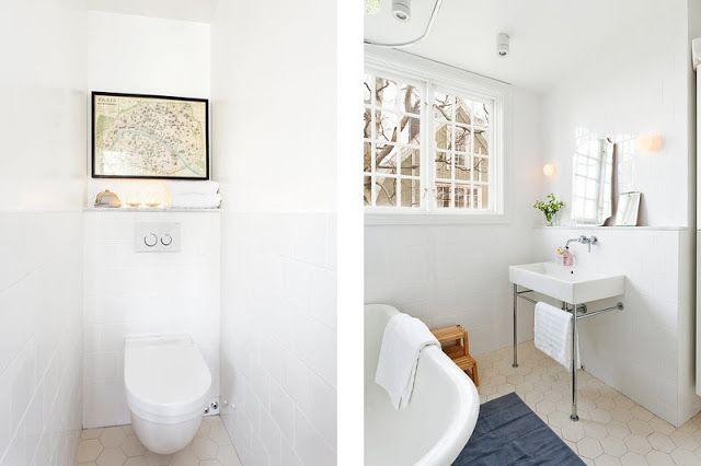 Vägghängd toalett med överhylla
