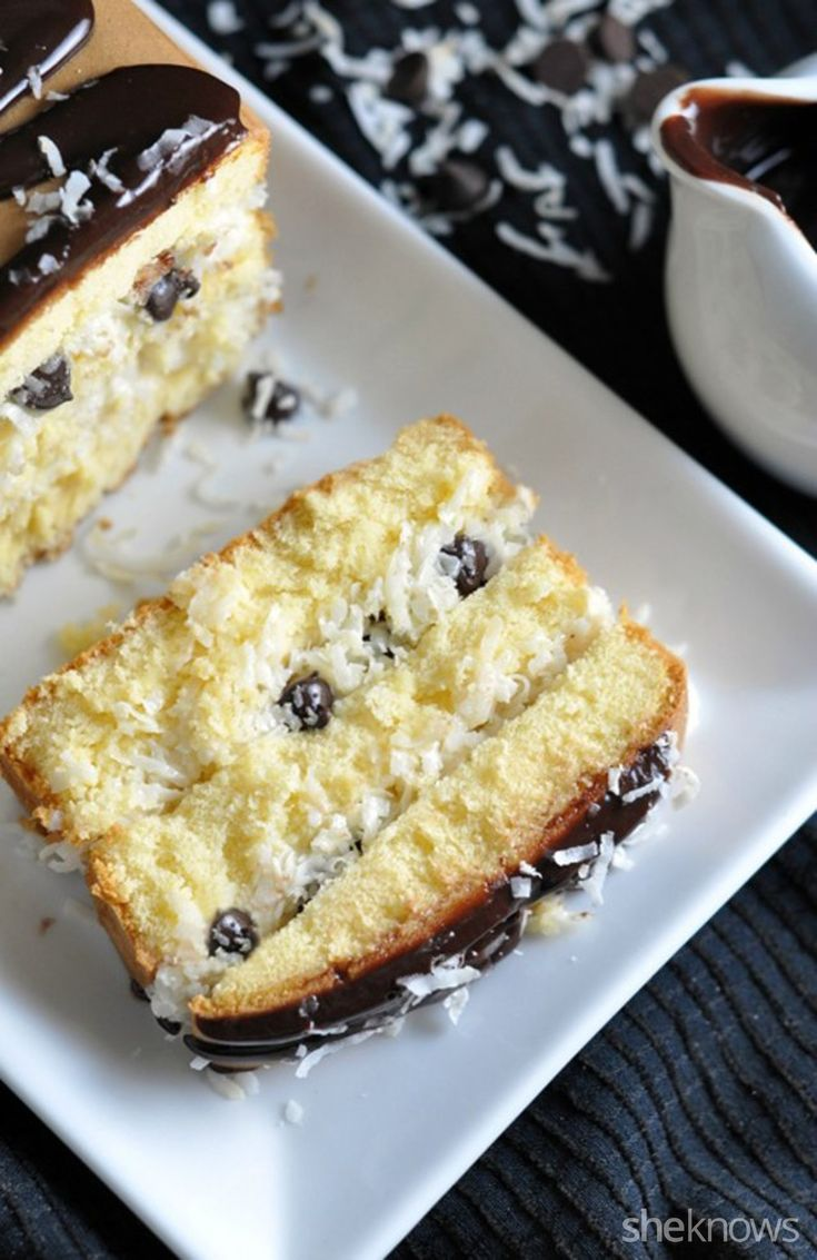Pound Cake coconut and chocolate chip layered pound cake too good to resist