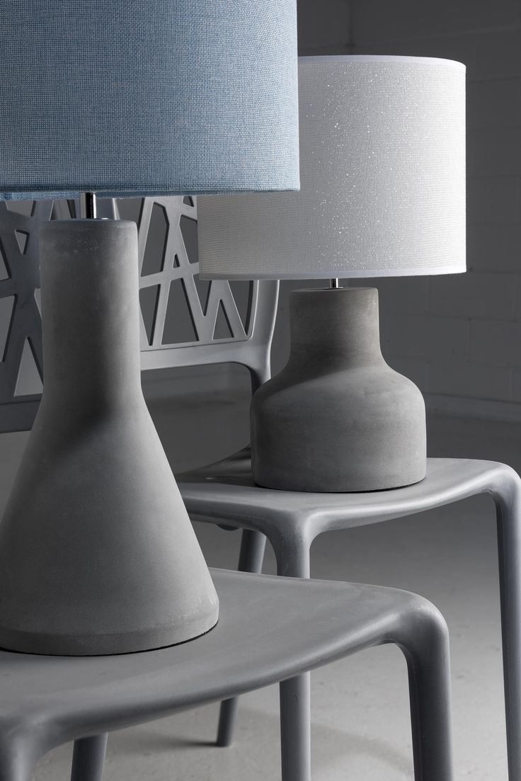 Industrial Colour Cement Lamps by Mayfield