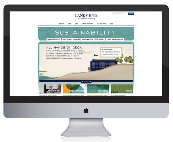 Web Design: Lands' End Sustainability Site by Rebecca LaRue, via Behance