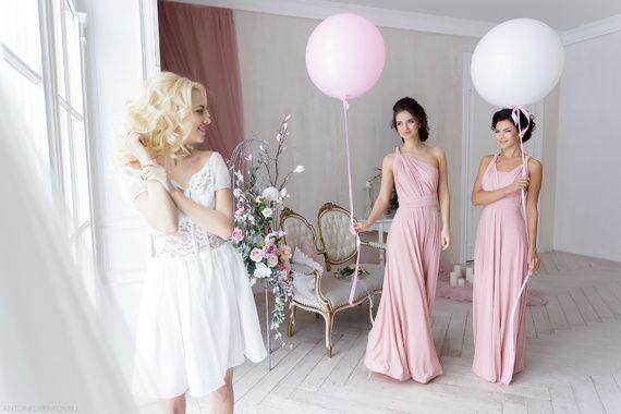Платье трансформер цвет Розовый кварц