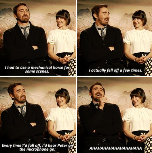The Hobbit: The Battle of the Five Armies interview - Lee Pace #funny