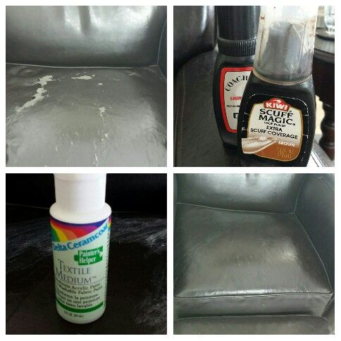 How to inexpensively repair bonded leather.