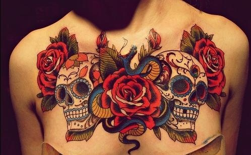 Just my opinion to much for a female chest piece but for Chest piece tattoos female