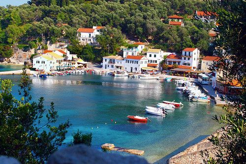 Loggos, #Paxos Island by Marite 2007. #Greece #HousebytheWater #sea #Island #beach