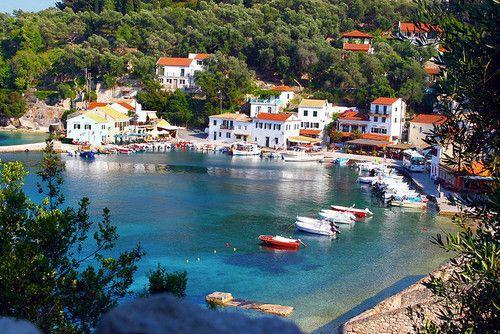 Loggos, #Paxos Island by Marite 2007. #Greece #HousebytheWater #sea #Island #beach