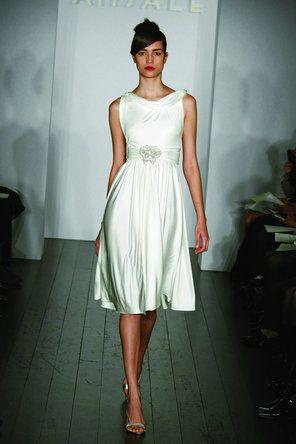 Amsale Little White Dress   Wedding dress ideas...