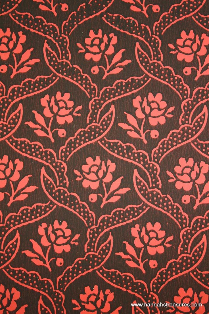 Red vintage floral wallpaper images for Old french wallpaper
