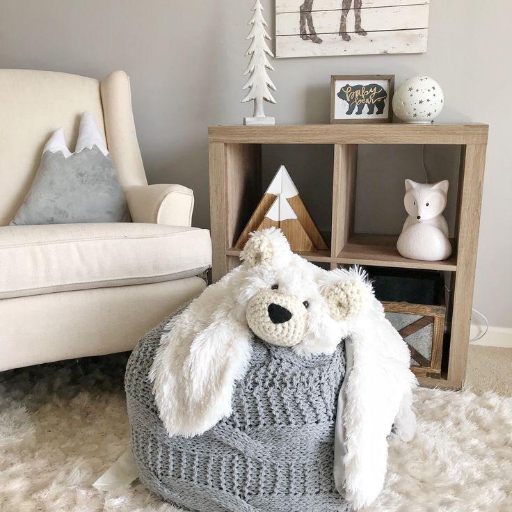 Bear rug, Bear blanket, small polar minky bear plush, woodland Nursery decor, woodland animals : ClaraLoo Creations