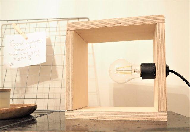 Saippuakuplia olohuoneessa: Valoa syksyyn - DIY vaneri valaisin