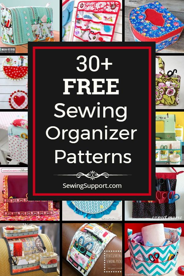 Fabric Organizer Patterns For Your Sewing Notions Tools 30