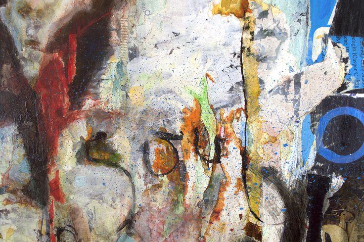 Soul 4 Ways. Detail 13. Mixed media. Magazine shreds, ink, acrylic paint, graffiti pens, pencil, pure pigment powder, and love.  #mixed media #artist #art