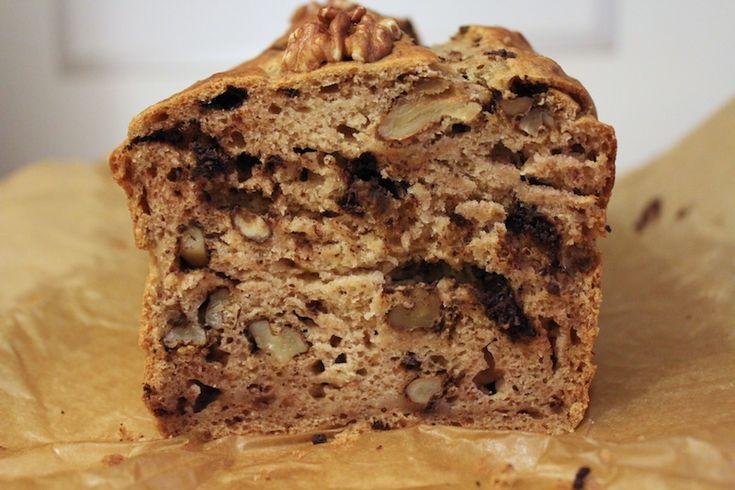 Banaan-Chocolade-Walnoot cake zonder suiker - Beginspiration
