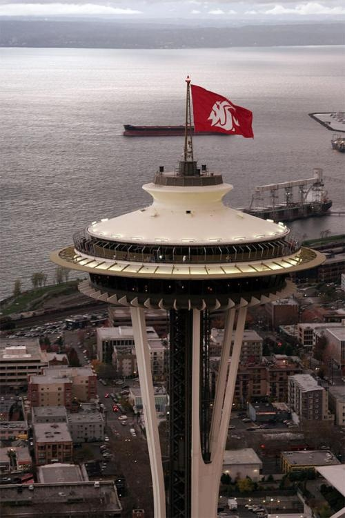 WSU at the Space Needle. This pretty much sums it all up!