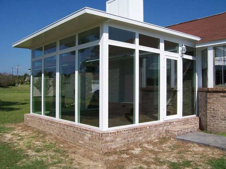 Sunroom Ideas On A Budget | Marquee Style Patio Enclosures Feature A Roof  Design That Slopes From ... | Porch | Pinterest | Patio Enclosures, Roof  Design ...