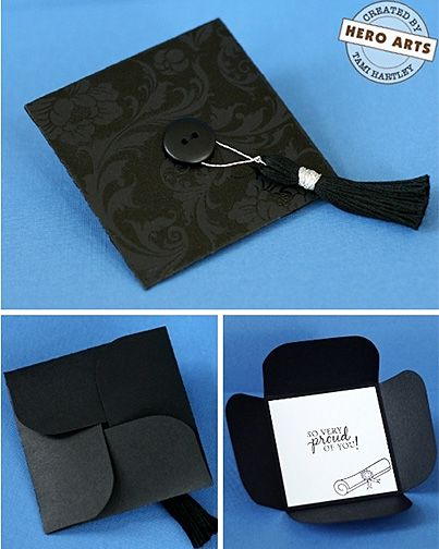 Folded Graduation Cap Card