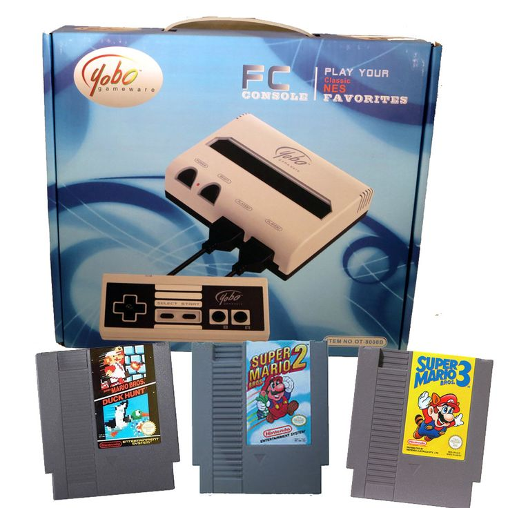 FC Mini Nintendo NES System with Super Mario Bros. 1, 2, 3