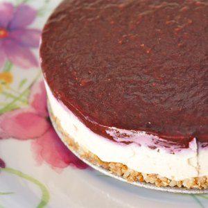 Cheese cake zonder zuivel, glutenvrij en suikervrij