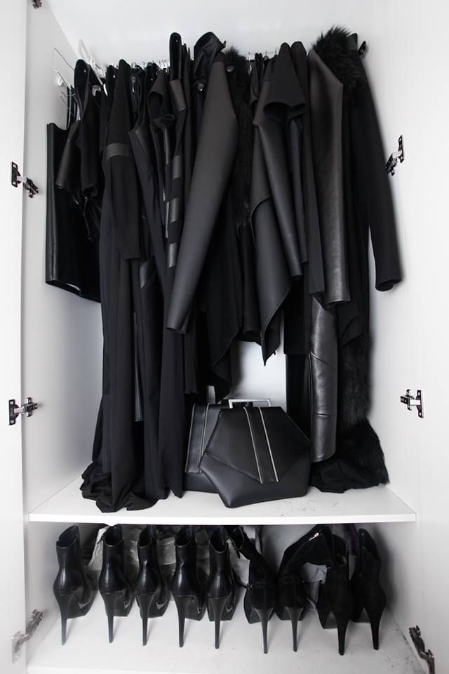 Black, black, everything black
