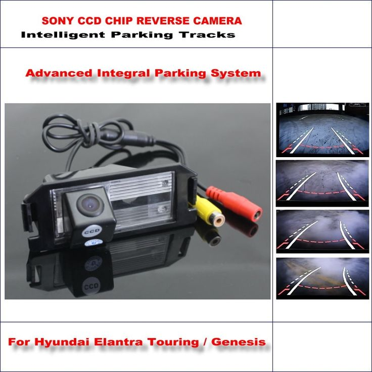 (52.86$)  Buy here - http://aiu82.worlditems.win/all/product.php?id=32791136769 - Intelligentized Reversing Camera For Hyundai Elantra Touring / Genesis Rear View Back Up / 580 TV Lines Dynamic Guidance Tracks