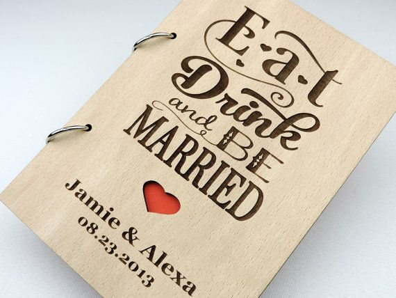 Custom Wood Wedding Guest Book Wedding Present by BookUnique, $44.00