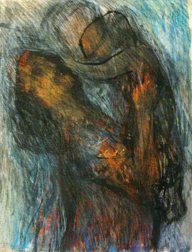 """Northern art: """"Mother and Child"""" 1967, by Arthur Berry 1925-1994.."""
