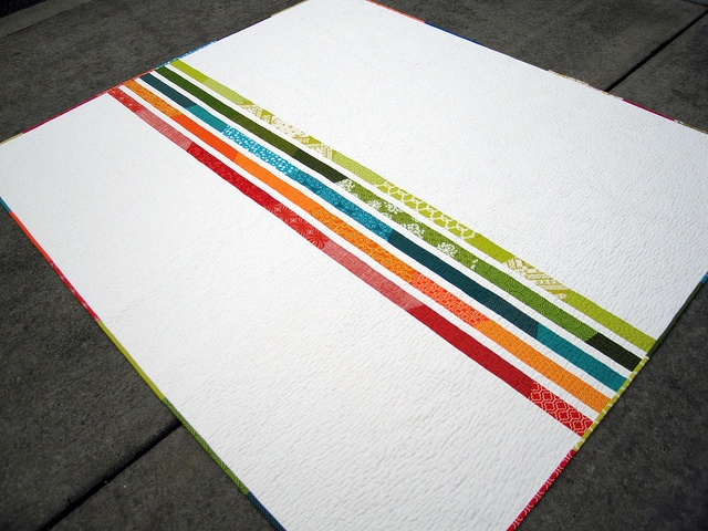 by elizabeth hartman from oh! fransson.: Craft, Quilt Ideas, Rainbow Quilt, Quilt Backs, Color, Quilts, Quilting Inspiration, Quilt Backing, Fabric